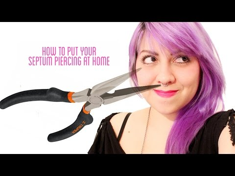 How to put your septum piercing at home (not how to make a septum)