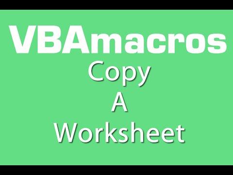 Copy A Worksheet - VBA Macros - Tutorial - MS Excel 2007, 2010, 2013