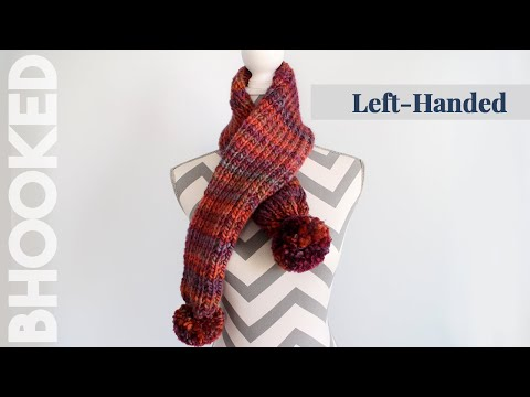 How to Knit a Scarf for Beginners - Easy Knit Scarf Left Handed