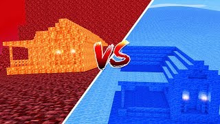 Minecraft: CASA DE LAVA VS. CASA DE AGUA ‹ JUAUM ›
