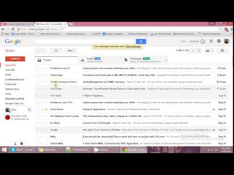 Tutorial how  to delete sent mail at any time from gmail