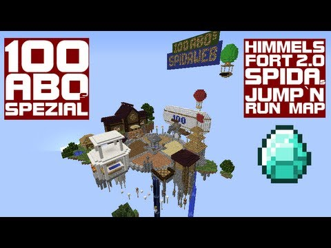 100 Abonenntenspezial: Himmelsfort 2.0 (Minecraft Jump-and-Run-Map) von Spidaweb + Downloadlink