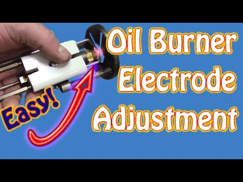 How to Adjust the Electrode (Points) Gap On Riello Oil Fired Burners Basic Boiler Maintenance Part 4