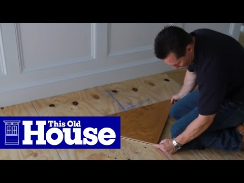 How to Install a Herringbone Floor - This Old House