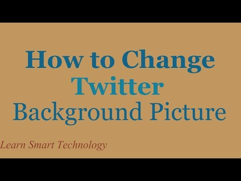 How to Change Your Twitter Background Picture | Change Twitter Theme