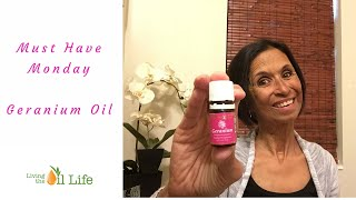 Young Living Geranium Oil - your skin and man will love it.