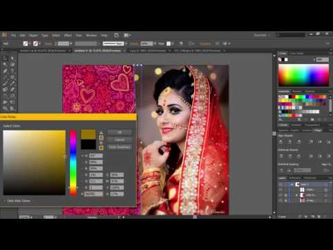 Adobe illustrator CS6 Tutorial | Raster Photo Mask And Edit For a Wedding Bride