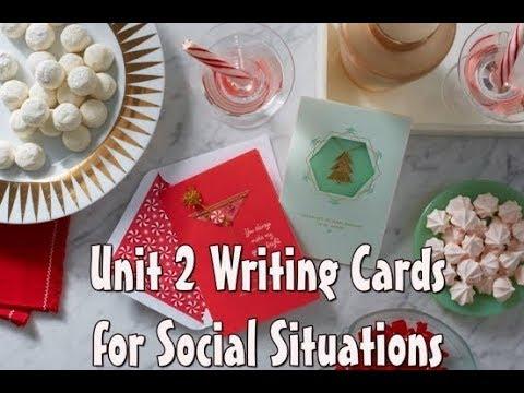 Writing Cards for Social Situations 2 part 1 การเขียนการ์ดภาษาอังกฤษ 2 ส่วนที่ 1