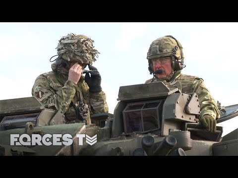 Prince Charles Drives A Warrior IVF And Makes Friends With A Military Mascot | Forces TV