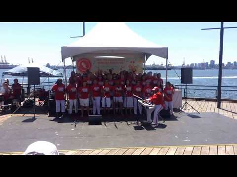 Canada 150 years celebration Choir in North Vancouver Lonsdale Quay