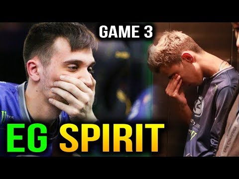 EG vs SPIRIT HEART BREAKING GAME!!! Dota2 Supermajor Game 3