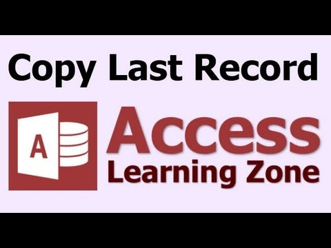 Microsoft Access Copy Last Entered Record with DMAX and DLOOKUP VBA