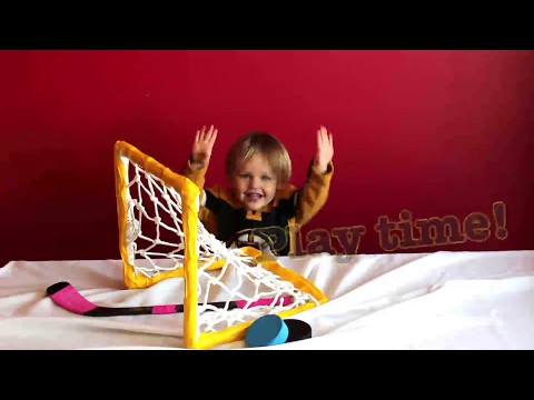 How to make a Hockey Net for Saucer Passing