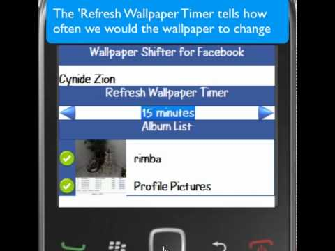 How to use Blackberry Wallpaper Shifter for Facebook