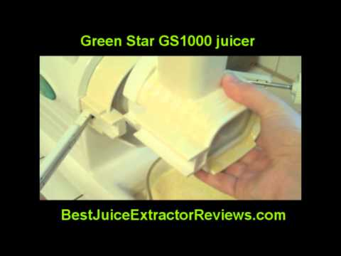 Making Orange Juice with a Green Star Juice Extractor