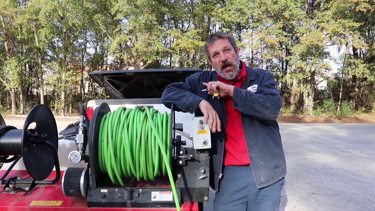 Operating a Plumbing Sewer Jetter