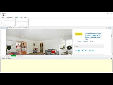 How to perform Street based Keyword scraping in realestate.co.nz | Webharvy | real estate details