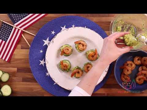 Avocado, Shrimp, and Cucumber Bites Recipe - The Produce Mom