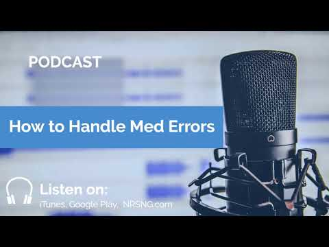 How to Handle Med Errors