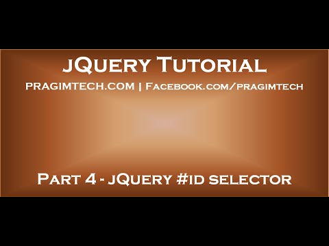 jQuery #id selector