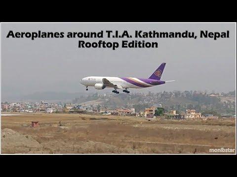 Aeroplanes around T.I.A. Kathmandu Nepal, Rooftop Edition