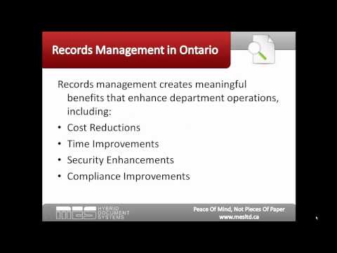 Records Management in Ontario - Key Benefits for Human Resource Departments
