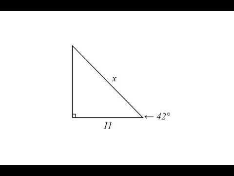 Use Cosine to Determine The Length of a Hypotenuse of a Right Triangle