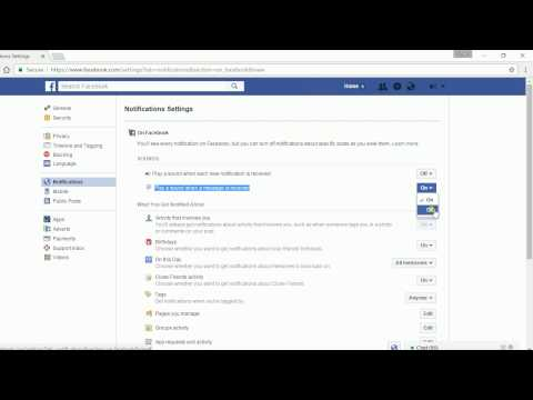 How to turn off facebook notification sounds