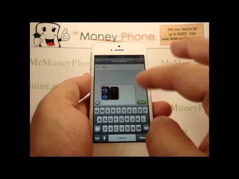 iPhone 5 - How to Text a Picture / Photo - Apple iPhone 5 - Tutorial #06