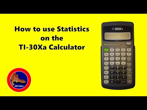 How to find Statistics on the Texas Instruments TI-30Xa Calculator