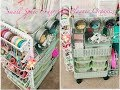Craft Organizer Rolling Cart Hacks Using a Dupe IKEA Raskog Cart from Ross