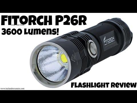 Fitorch P26R 3600 Lumen Flashlight Review