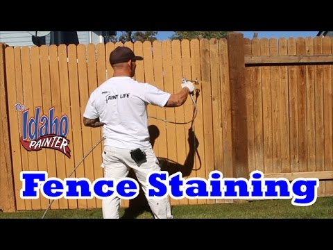 HOW TO STAIN A WOOD FENCE Instructions painting a wood fence
