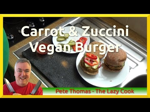 How to Cook Oven Baked Carrot and Zuccini Vegan Burgers