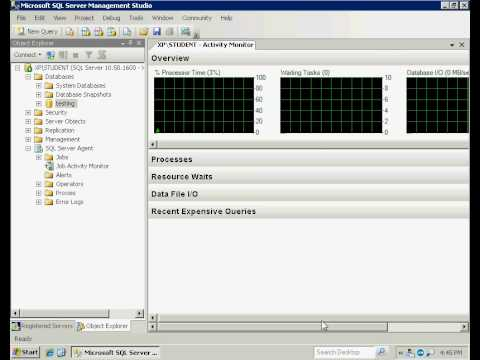 SQL Server 2008 - Activity Monitor and Reports