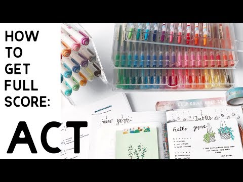 How to study for the ACT // study tips