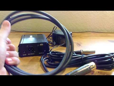 Unboxing a Neewer 48v Phantom Power Amplifier for a condenser microphone