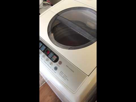 Midea 2.1cu washer during loudest part of spin cycle