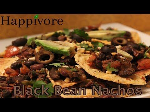 Happivore - Black Bean Nachos