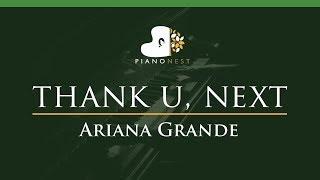 Ariana Grande  Thank U Next  Lower Key Piano Karaoke  Sing Along
