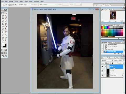 Obi-Jeff Kenobi's Lightsaber Photoshop Tutorial 1