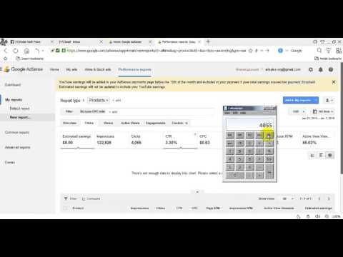 Google Adsense Ads Click and CPC Earning Calculate