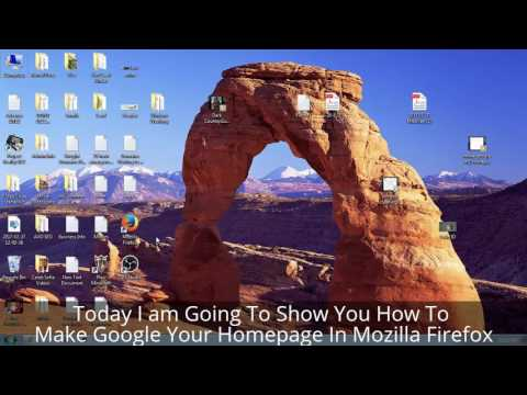 How To Make Google My Homepage in Mozilla Firefox