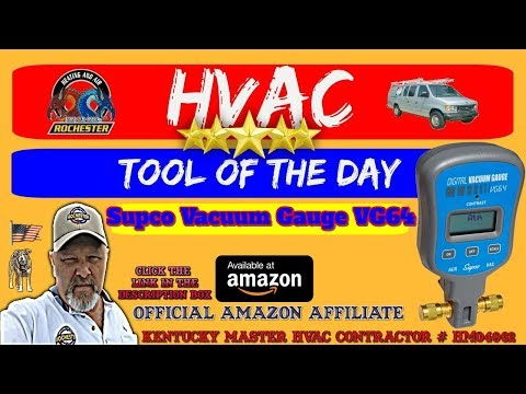 Supco Vacuum Gauge VG64 / HVAC Tool of the Day