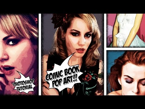 How to Make a Comic Book, Pop Art Effect From a Photo + PSD - Photoshop Tutorial
