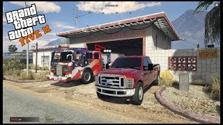 GTA 5 Firefighter Mod - Sandy Shores Fire Station Mega Upgrade & New