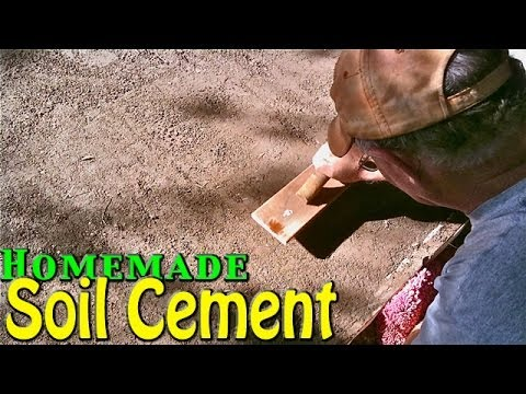 Soil Cement - Simple & Cheap Home Application [Homemade]