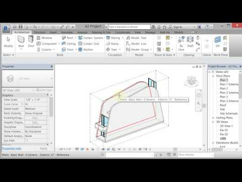 Revit Foba Curved Walls Roof by Extrusion