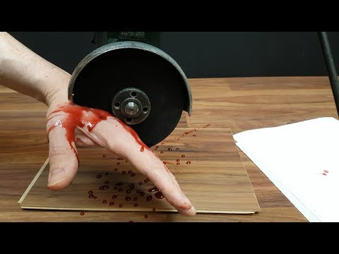 Angle Grinder VS Hand - Make edible fake blood in 30 seconds for halloween