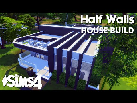 The Sims 4 House Building - Half Walls